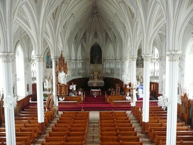 Intérieur de l'église de L'Isle-Verte (Photo : © Nathalie Allaire)