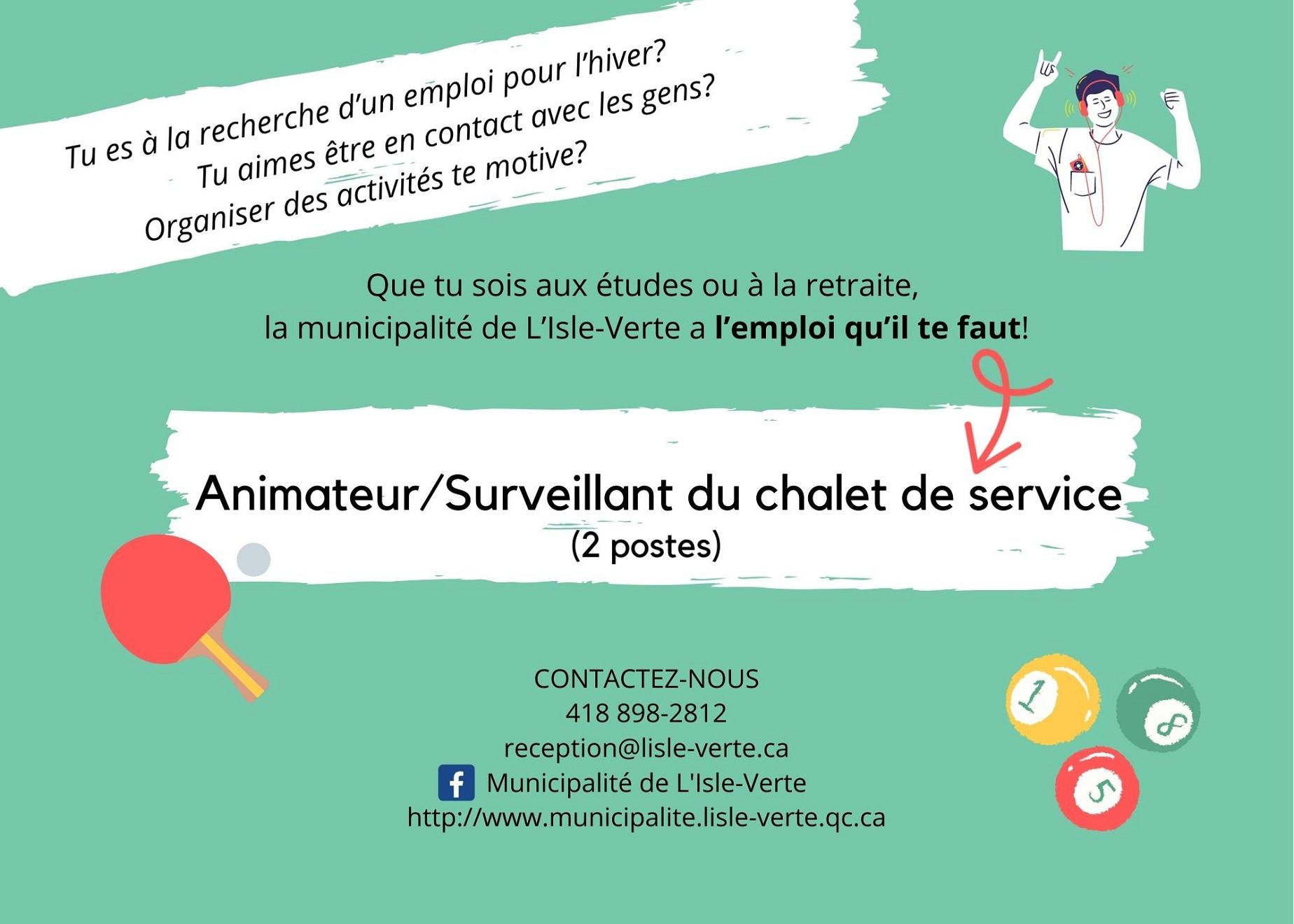 Animateur chalet - Affiche